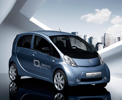 Blue ION electric car