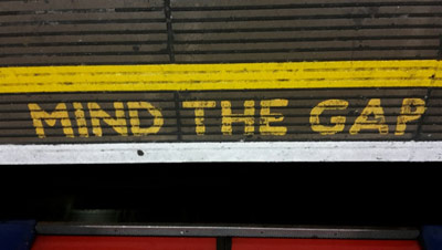 'Mind the Gap' wording